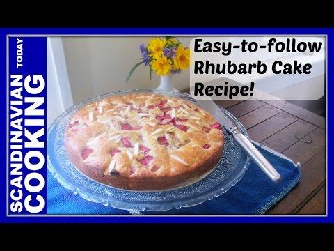 Video How To Make Easy Homemade Norwegian Rhubarb Cake Recipe