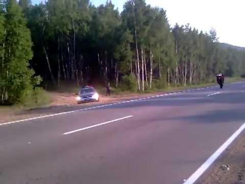 Мотоциклист Чётко Поступил!!!