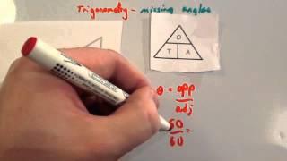 Trigonometry Missing Angles - Corbettmaths