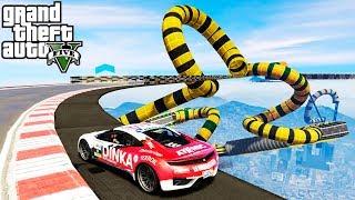 НЕБЕСНАЯ РАМПА тест карт МАШИНКИ ГТА 5 ОНЛАЙН ГОНКИ спорт ТАЧКИ CARS GTA 5 ONLINE race не мультики