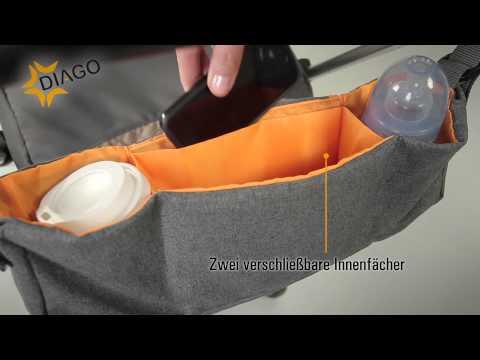 Produktvideo Diago Deluxe Kinderwagen Organizer
