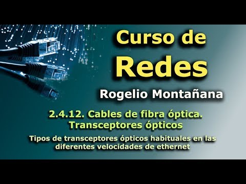 Curso de redes. 2.4.12. Cables de fibra óptica. Transceptores ópticos