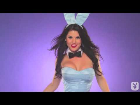 Amanda  Cerny    sexy Playboy Easter bunny strips it all off