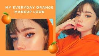 My Everyday Orange Makeup Look 🧡