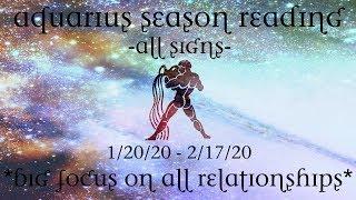 Big Focus on Relationships & Dreams ~ Aquarius Season ~ All Signs
