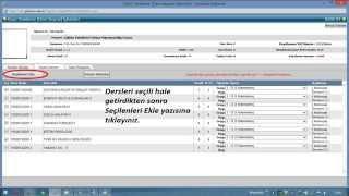 giresun üniversitesi öğrenci bilgi sistemi ders kaydı  © dursun şahin 2015