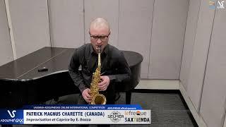 Patrick MAGNUS CHARETTE plays plays Improvisation et caprice by E. Bozza #adolphesax