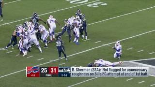Richard Sherman on Blocked FG Attempt & Interaction with Rob Ryan   Bills vs. Seahawks   NFL
