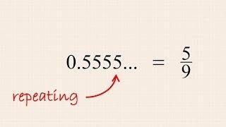 Pre-Algebra 20 - Converting Repeating Decimal Numbers to Fractions