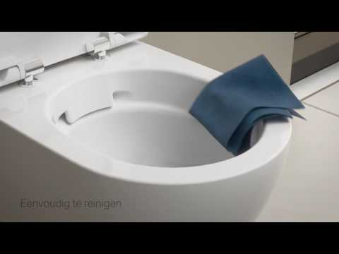 Geberit 280 Basic toiletset Rimfree met Geberit UP320 reservoir/bedieningsplaat glans-wit
