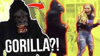 GIGANTIC GORILLA SCARE PRANK ON MY GIRLFRIEND!! (HILARIOUS!!)