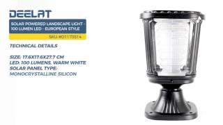 Solar Powered Landscape Light - 100 Lumen LED - European Style