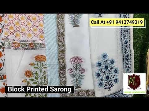 Handmade Cotton Sarong