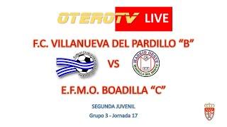 R.F.F.M. - Jornada 17 - Segunda Juvenil (Grupo 3): F.C. Villanueva del Pardillo 2-0 E.F.M.O. Boadilla.