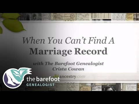 When You Can't Find a Marriage Record   Ancestry - YouTube