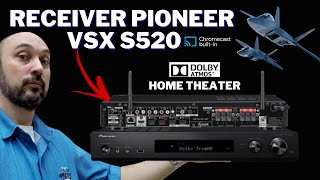 RECEIVER PIONEER VSX S520 DOLBY ATMOS HOME THEATER
