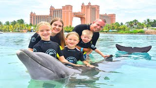 Dolphin Training!!! Swimming With Dolphins at Atlantis!