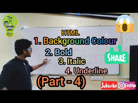 How to make a text bold , italics , underlined, background color and more in HTML