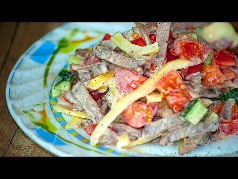 Салат с языком. Простые рецепты от wowfood.club
