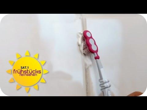 Badezimmer MIT NAGELLACKENTFERNER putzen? - Lifehacks | SAT.1 Frühstücksfernsehen