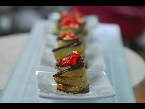 Aubergine with Tahini  Yogurt & Pomegranate | Cooksmart | Sanjeev Kapoor Khazana