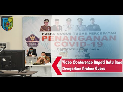Video Conference, Bupati Batu Bara Dengarkan Arahan Gubsu
