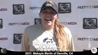 2021 Makayla Martin Pitcher Softball Skills Video - Lady Wolfpack 18 Gold