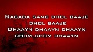 Ram Leela Nagada sung Dhol Lyrics feat. Deepika   - YouTube