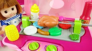 Baby doll kitchen bag food cooking play Baby Doli play