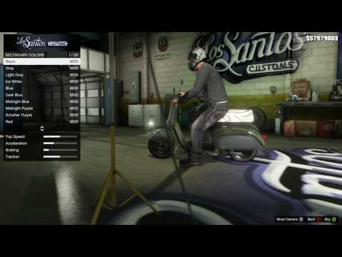 Video GTA 5: Pimp My motor scooter (Faggio) AKA Chick Magnet.