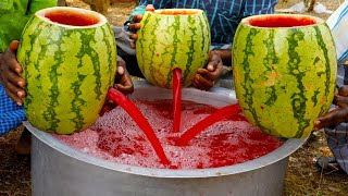 WATERMELON JUICE | 200 KG Watermelon Juice prepared by my uncle | food fun village