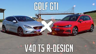 Comparativo: Golf GTI x V40 T5 R-Design