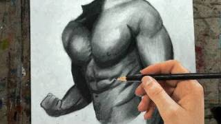 How To Draw The Male Torso, Chest, Arms- Step By Step