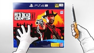"PS4 Pro ""RED DEAD REDEMPTION 2"" Console Unboxing (Playstation 4 Bundle) + Bonus"