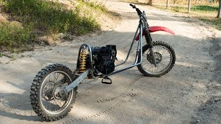 A Snowmobile Powered Mountain Scooter?!