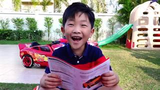 Power Wheels Car Toy Magic Transform Colors Pretend Play Video for Kids