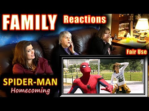 SPIDER-MAN Homecoming | FAMILY Reactions | Fair Use