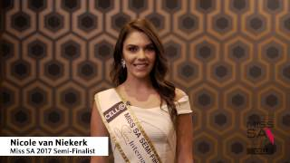 Introduction Video of Nicole van Niekerk Miss South Africa 2017 Contestant from Môregloed, Gauteng