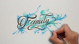 Dibujando Lettering  Letras FAMILY 🤝 / FAMILY Drawing Lettering Tattoo Chicano Lettering ✏️