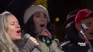 Celebrities Come Together To Sing A Song During AntiTrump Rally
