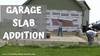 GARAGE SLAB ADDITION | CONCRETE SLAB FORMWORK PART 1 OF 3