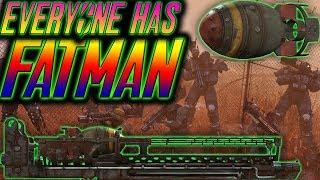 fallout 76 everyone uses a fatman against the scorchbeast queen   scorchbeast queen speedrun