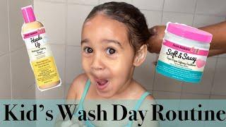 KID'S WASH DAY ROUTINE W/ AUNT JACKIE'S GIRL'S SHAMPOO & CONDITIONER