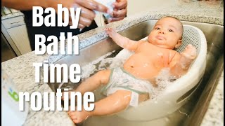 Newborn Bath Time Routine! 11 weeks (2 month old baby)