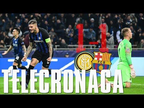 Il Gol di Icardi commentato da Caressa, Delfino ecc... | Inter 1-1 Barcellona
