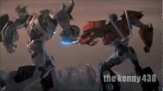 transformers prime optimus vs megatron 3D español latino