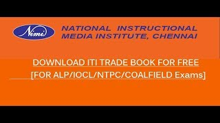 Download any ITI trade book as per NIMI Partner for ALP/ Government jobs [FREE]