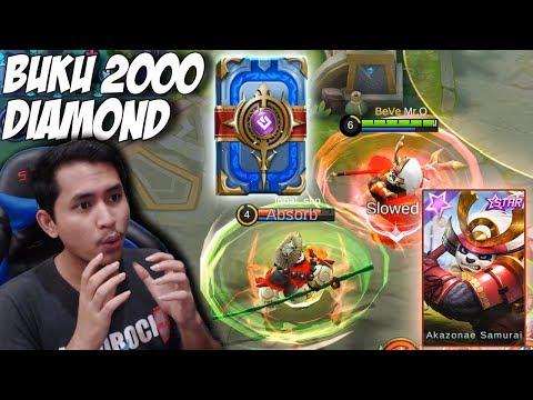 NYOBAIN SKIN BARU AKAI TOP CAMAT + BELI BUKU LAKNAT 2000 DIAMOND - Mobile Legends Indonesia