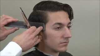 1920's Men's Layer Cut – Sean Penn Hairstyle – Ryan Gosling Hairstyle - Part 1