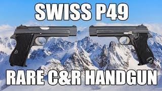 Swiss P49 Pistol, Model P210-2, Original, 9mm Caliber, C & R